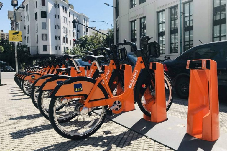 Sharing bike system. Buenos Aires