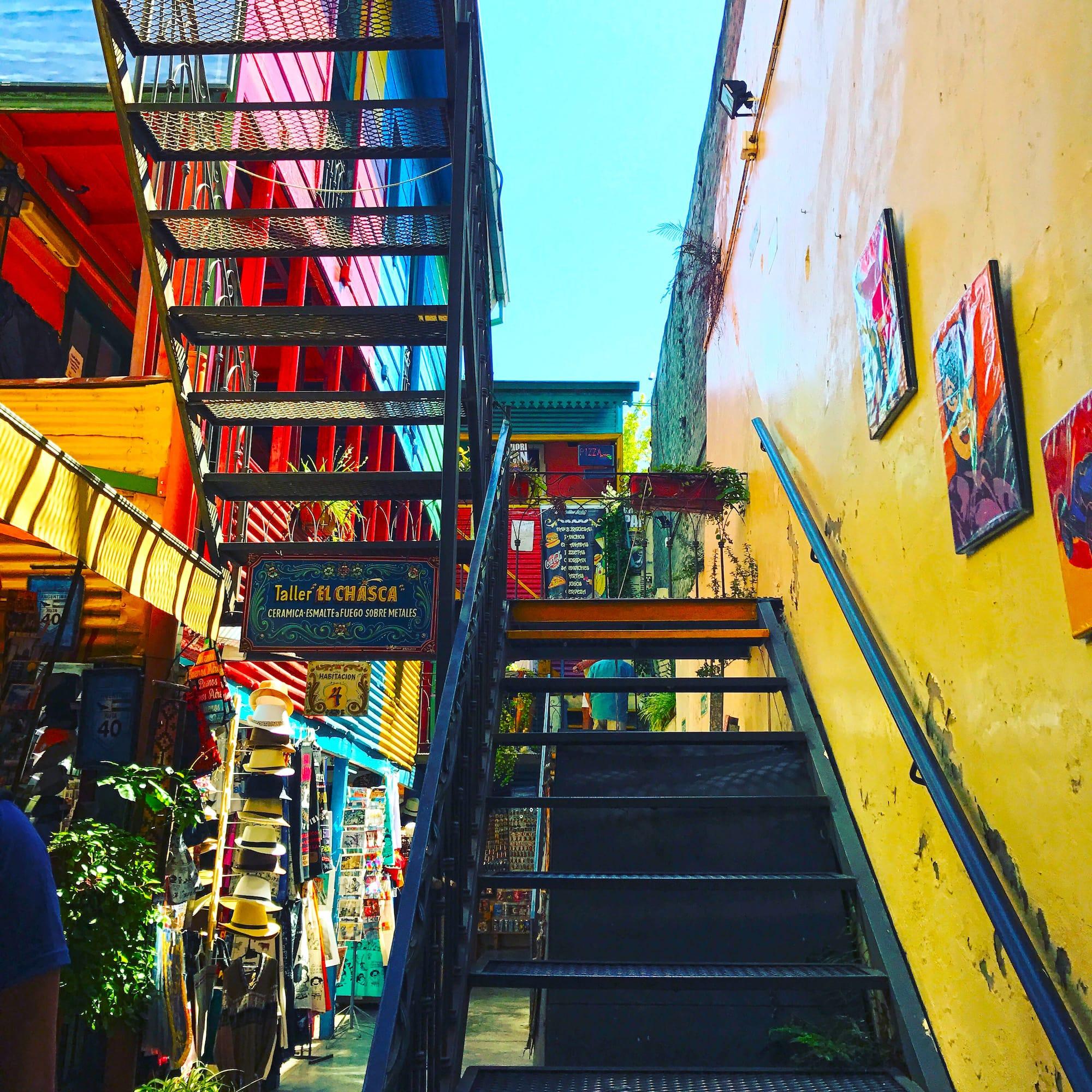 La Boca Buenos Aires houses Caminito