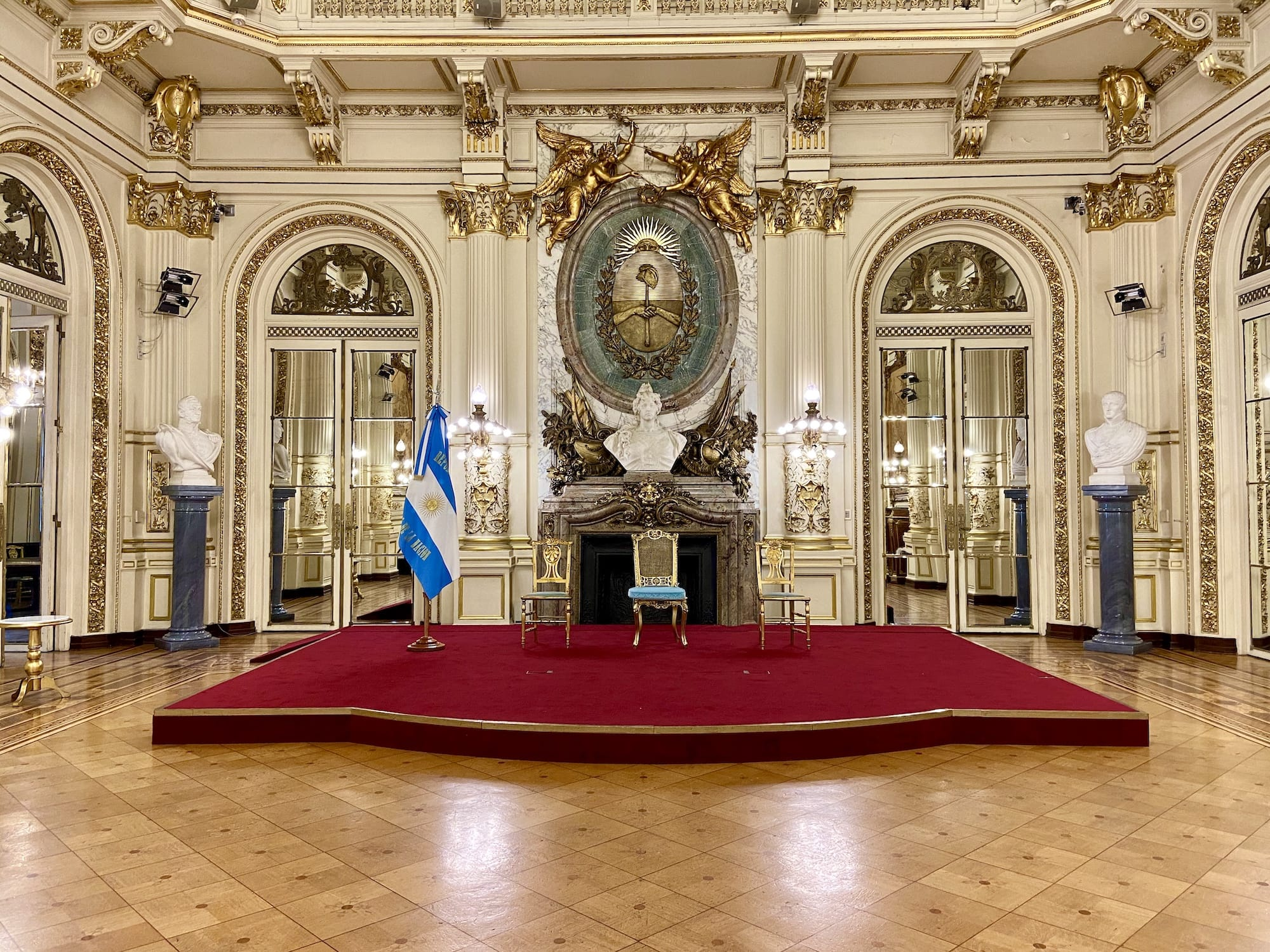 Salon Blanco Casa Rosada Argentina Presidential Palace